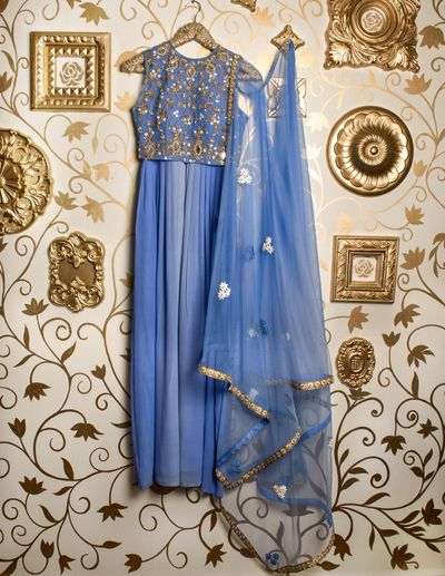 Photo of sleeveless anarkali