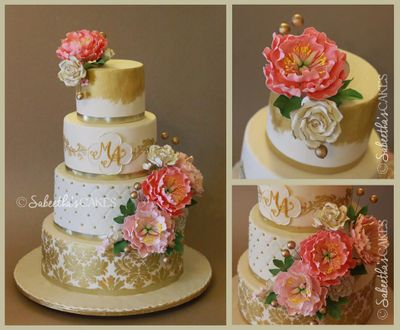 Photo of four tier wedding cake