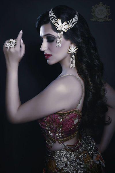 Photo of diamond hair accessories