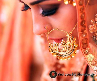 Photo of Gold vintage punjabi nosering