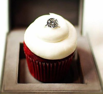 Photo of ring in cupcake