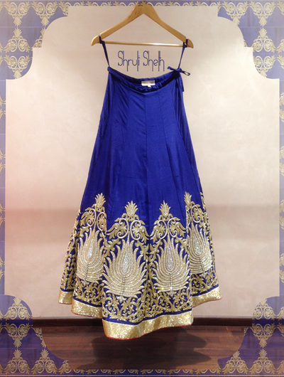 Photo of deep blue lehenga