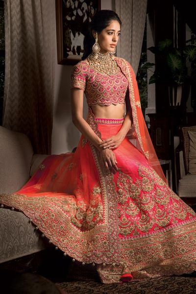 Photo of pink bridal lehenga