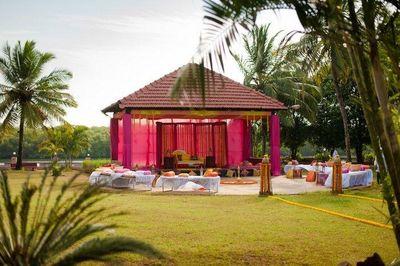 Photo of open area wedding