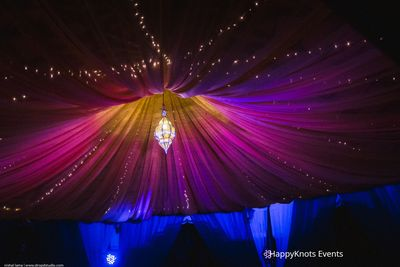 Photo of purple tent decor