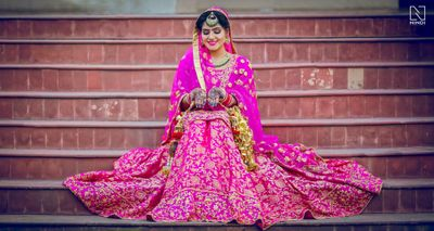 Photo of Rani Pink Bridal Lehenga