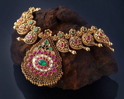 Photo of traditional temple jewellery necklace