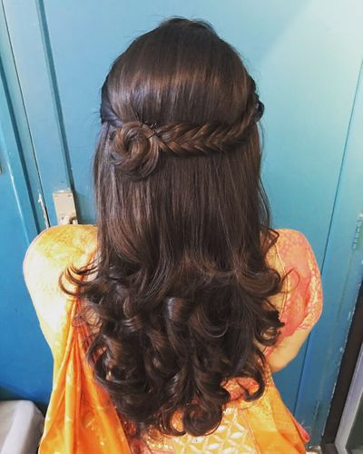 Wedding Hairstyles Photo mehendi hairstyle