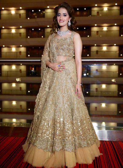 Photo of glitter lehenga