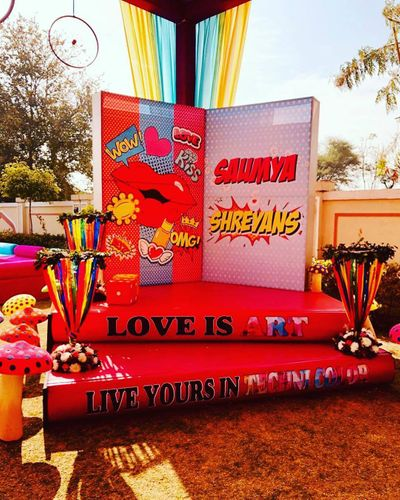 Photo of Personalised decor at the sangeet.
