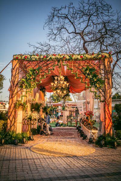 Photo of unique entrance decor