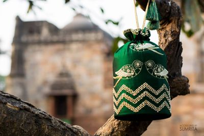 Photo of Gorgeous green potli bag for wedding