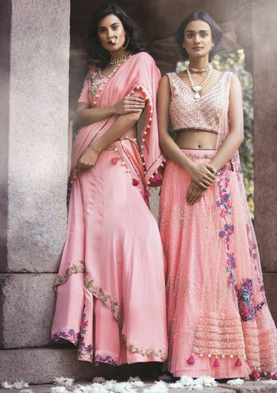 Photo of soft pink lehenga