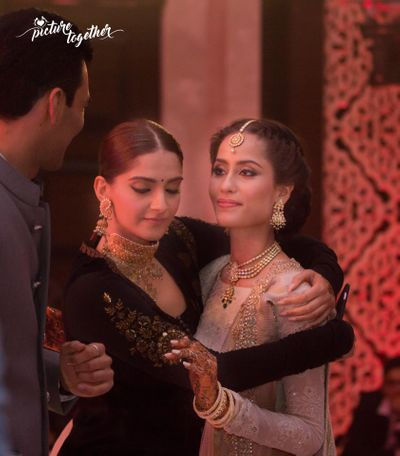 Photo of Sonam Kapoor Hugging Bride