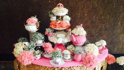 Photo of Dessert table setup with cupcakes