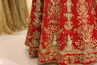 Photo of Red Lehenga with Gota Patti Detailing