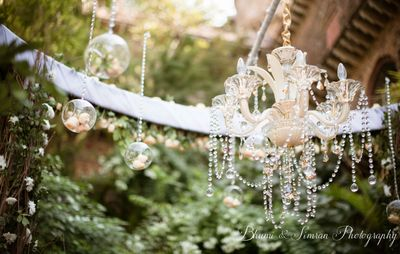 Photo of hanging chandelier decor