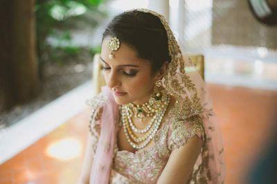 Photo of Baby Pink Bride Portrait