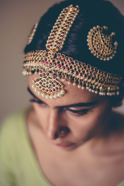 Photo of Bridal mathaaptti for South Indian brides
