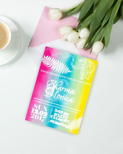 Photo of Multicolored invitations