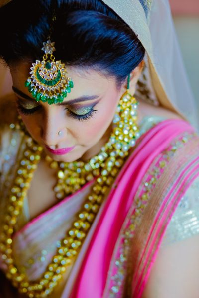 Wedding Jewellery Photo emerald maang tikka