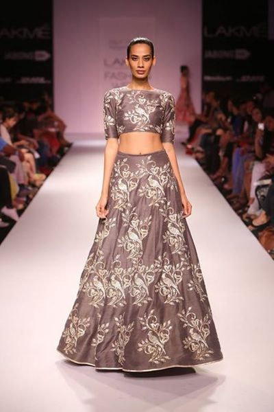 Photo of Payal Singhal grey lehenga with crop top