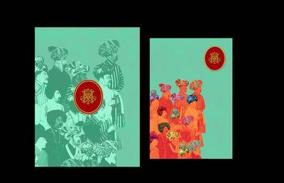 Photo of turquoise invitation