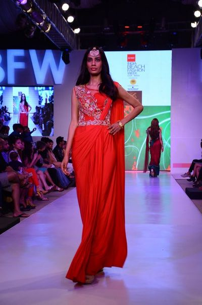Photo of IBFW gown sari