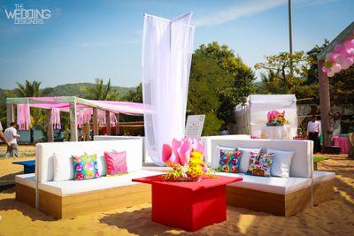 Photo of outdoor mehendi decor