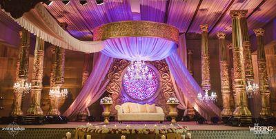 Photo of Elegant chandelier stage decor