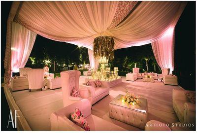 Photo of Light pink theme wedding decor