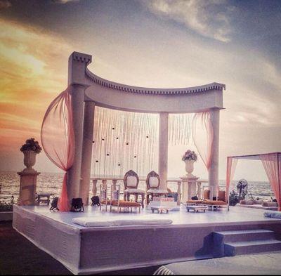 Photo of beach side wedding