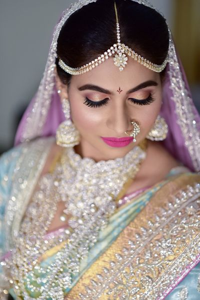 Photo of South indian bridal look with all diamond jewellery