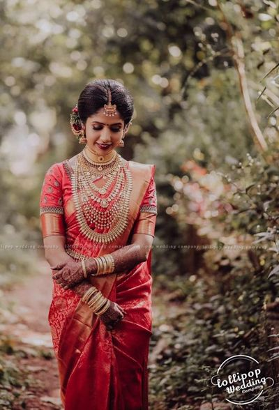Photo of South Indian bride posing on her wedding day