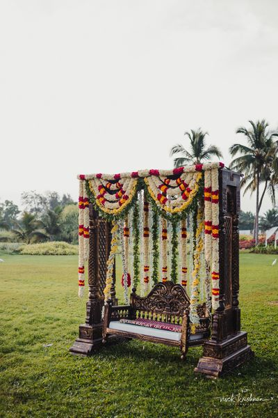 Photo of Floral swing for decor