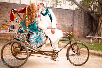 Post Wedding Shoot in Wedding Lehnga