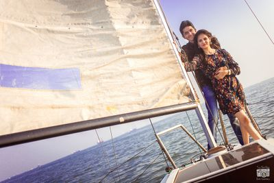 Couple Shoot on a Sail Boat