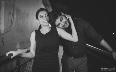 On the streets of Rishikesh; Karan + Tricia