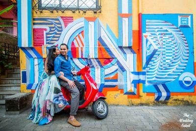 Mumbai Street Art Pre-Wedding Shoot.