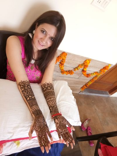 Smita bridal mehendi at dwarka on 30. oct