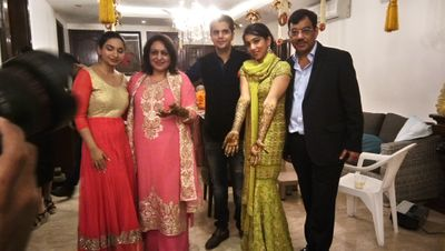 Teena Chopra and Dushyant mehendi ceremony at Hauz Khas on 21 nov