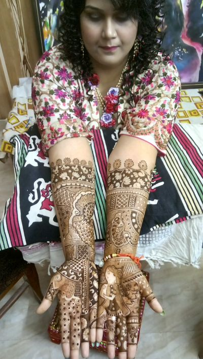 Geshna bridal mehendi at ghaziabad on 30 Nov 2017