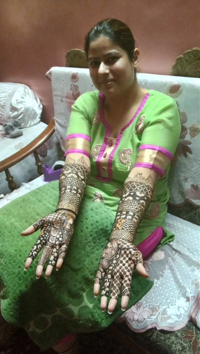 Ritika bridal mehendi at Dilshad garden,  DELHI on 3rd feb