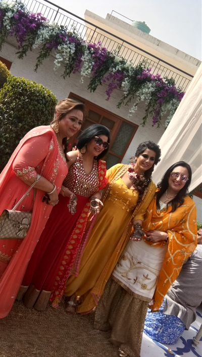 Ginni Kohli, The founder and CEO OF Wedwise,  Bridal Mehendi ceremony at sainik farms at Saket,  delhi on 17th Feb 2018