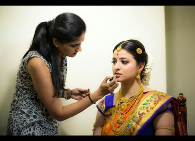 south Indian bride Ashwini