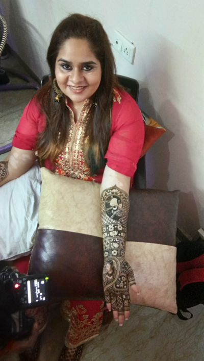 Mrinali Kalia, the make up artist, Bridal mehendi on 9th march at ASHOK VIHAR