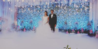 An azure lyrical fairy-tale wedding!