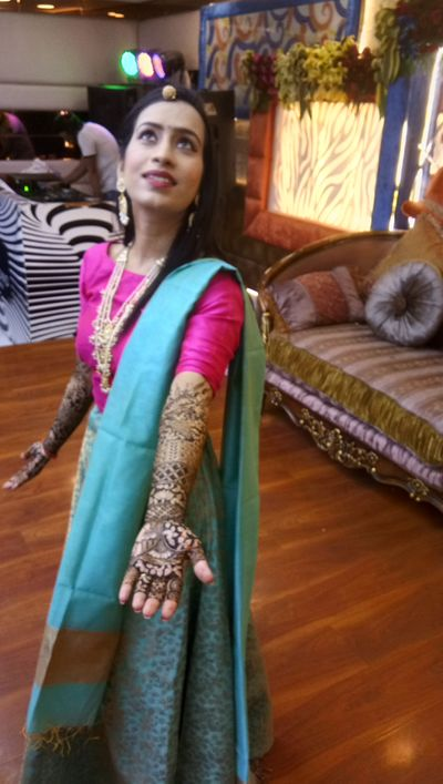 Priyanka bridal mehendi ceremony at Diamond crown on 5 th july