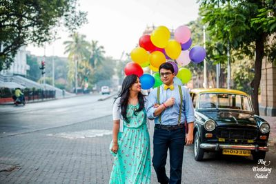 Up Themed Pre wedding Shoot in Mumbai