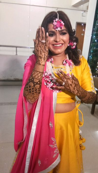 Khushi Singh bridal mehendi at gurgaon